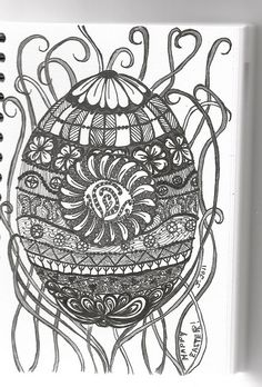 Zentangle-Eggs-traordinary by arts1plus, via Flickr