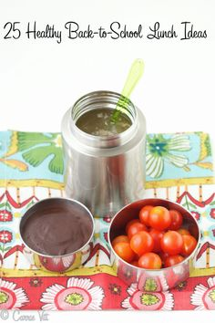 Back-to-School Lunch Ideas and Dairy-Free Chocolate Pudding