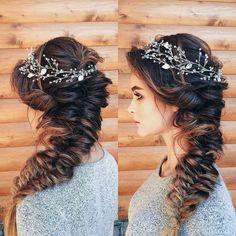 Wedding Braids, Long Hair Wedding Styles, Boho Wedding Hair, Wedding Hair Pieces, Long Hair Styles, Formal Hairstyles, Bun Hairstyles, Wedding Hairstyles, Hairstyle Ideas