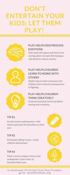 Independent and screen free play is the best gift you could give your children. It also happens to be a game changer for work at home moms! Click to download 55 screen free play prompts!