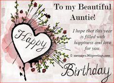 Happy Birthday Auntie Message