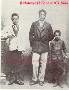 King Lobengula Khumalo and sons of Matabeleland (Land of the Ndebele Tribe) of Zimbabwe.This photograph was taken in 1872 in Bulawayo the second largest city in Zimbabwe. African Life, African American History, West Africa, South Africa, John Rhodes, Ian Smith, Black Royalty, African Royalty, Africa Style