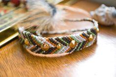 Studded Chevron Friendship Bracelet  Earthy by smittenandhazel, $10.00