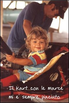 This little guy, with the curly hair and those cheeks, will grow up to be the Greatest (motorcycle racer) Of All Time ~~~~ baby Valentino Rossi