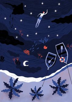 Between stars. Laufer Ilustración. lauferilustracion.com