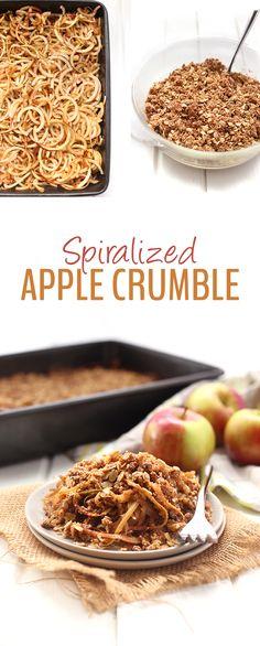 Crumble de pommes spiralisées