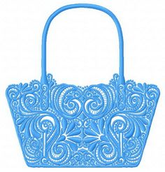 Stylish handbag 2 machine embroidery design. Machine embroidery design. www.embroideres.com