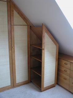 Ikea Aneboda Underbed Storage ~ Kleiderschrank Dachschräge Holz Erle, Füllung Fechtwerk Detail