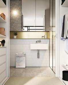 "230 Me gusta, 17 comentarios - T H I R D⠀⠀A E S T H E T I C (@thirdaesthetic) en Instagram: ""Bathroom Render for 223 Napier St, Fitzroy - Development by @milieuproperty, @freadmanwhite #cgi…"""