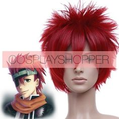 Red 30cm D.Gray Man Lavi Bookman Jr. Cosplay Wig