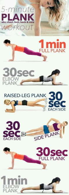 5 minuten plank yoga workout.