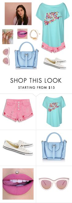 """Untitled #1993"" by jenny100415 ❤ liked on Polyvore featuring NIKE, Converse and Quay"