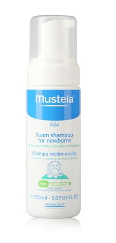 A must for newborns to avoid/treat cradlecap! Amazon.com: Mustela Foam Shampoo for Newborns - 5.07 oz.: Baby
