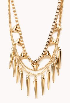 Layered Spiked Necklace | FOREVER21 @Sammi Jacklin ahh ima look for it!