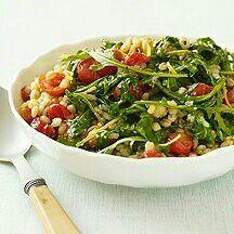 Barley tomato arugula salad