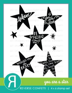 Reverse Confetti July 2015 product release: You Are a Star. Coordinates with You Are a Star Confetti Cuts.