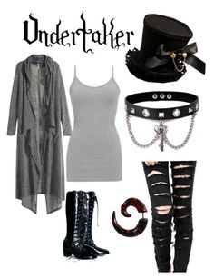 """my version of undertaker (female"" by shelly-bean-17 ❤ liked on Polyvore featuring H&M, BKE and Trend Cool"