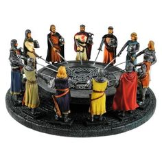 Buy the Knights of the Round Table Model from our collection of Tintagel themed gifts from English Heritage online. Next day and International delivery available. Anglo Saxon History, Alnwick Castle, Green Knight, Black History Facts, English Heritage, Bank Holiday Weekend, Chivalry, King Arthur, Romanticism