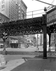 Frank Driggs - 53rd Street & Broadway, NYC, 1936.