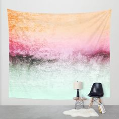 SUNDREAMER MINT Wall Tapestry by Monika Strigel | Society6 #sunrise #sunset #tapestry #fading #ombre #pink #orange #peach #mint #turqoise #aqua #decay #apartment #modernchic #modernliving
