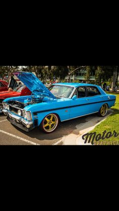 This is my 1970 model XW GT Falcon. It's a true blue Aussie muscle car and to top it off the colour is called true blue!