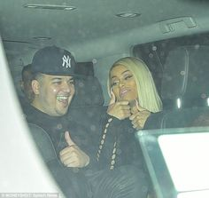 Loving life: Blac Chyna gave a big thumbs up to the camera and seemed perfectly delighted ...