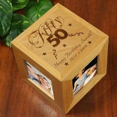 50th Birthday Gift - Personalized Photo Cube:Amazon:Home & Kitchen
