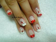 22 Trendy Nails Shellac Design French Tips Nail Manicure, Diy Nails, Cute Nails, Pretty Nails, Nail Polish, Shellac Designs, Nail Art Designs, Ladybug Nail Art, French Tip Nails