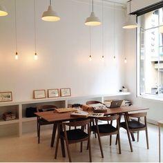 Sezane Paris headquarter featuring IKEA chairs