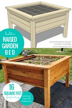 VIDEO: DIY Raised Garden Bed Planter For Square Foot Gardening, Video Tutorial And Woodworking Plan, Remodelaholic #squarefootgardening #gardenboxes #gardening #gardeningideas #woodworking