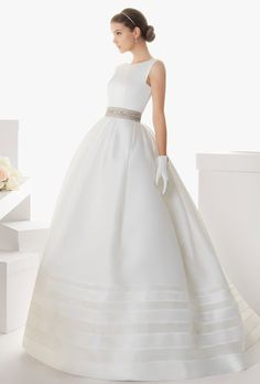 Sophisticated Wedding Ball-Gowns For Older Brides. #weddings #dresses