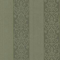 Interior Place - Green 492-2103 Arbella Damask Swirl Stripe Wallpaper, $39.99 (http://www.interiorplace.com/green-492-2103-arbella-damask-swirl-stripe-wallpaper/)