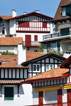 Seaside Basque architecture in St. Jean de Luz, France