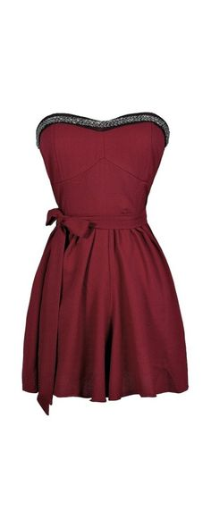 Romping Around Embellished Romper in Burgundy  www.lilyboutique.com