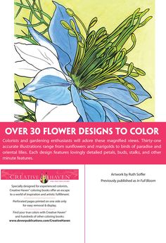 Creative Haven In Full Bloom Coloring Book Dover Publications