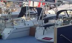 Last day today at Southampton International boat show. Hope you spotted our work around at the show.  This year we worked on the Bavaria lineup, (both sail and power), and also the Hanse yachts range. Besides Sprayhoods, Biminis were also installed on certain models and a full Bimini conversion on the 505.  The new Dufour 382 was fitted...