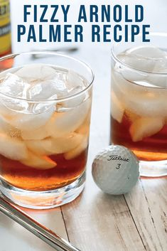 Enjoy this crisp twist on a classic Arnold Palmer! Everyday Party Magazine shares the simple three ingredient recipe for the perfect golf party beverage. #ArnoldPalmer #TheMastersTournament #Tea #Lemonade #Recipe