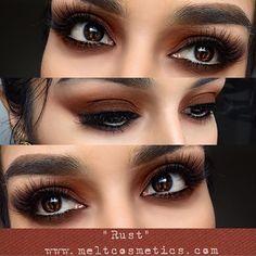 Rust-ed eyes 🌰🍂 In Rust eyeshadow Stalk Melt and myself on… Makeup Geek, Makeup Inspo, Makeup Inspiration, Makeup Tips, Beauty Makeup, Makeup Ideas, Kiss Makeup, Hair Makeup, Makeup Art