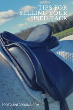 How to sell your used horse tack!  http://www.proequinegrooms.com/tips/saddles-and-bridles/tips-for-selling-your-used-horse-tack/