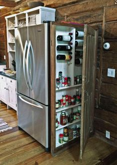 Shed DIY - Ncredible tiny house kitchen decor ideas Now You Can Build ANY Shed In A Weekend Even If You've Zero Woodworking Experience! Kitchen Organization, Kitchen Storage, Pantry Storage, Storage Organization, Storage Cabinets, Pantry Cupboard, Closet Storage, Pantry Diy, Tiny House Storage