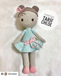No photo description available. Amigurumi Patterns, Amigurumi Doll, Chloe, Party Poppers, Doll Accessories, Baby Dolls, Coasters, Crochet Hats, Crochet Dolls