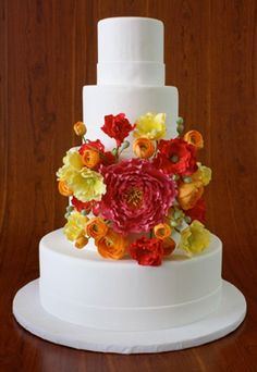 cake by elegantly iced in brooklyn, ny. . . those flowers are made from sugar!!