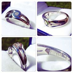 #Anillo de #compromiso de Plata con Diamante de 11 puntos #hechura #hechoamano #joyas Silver  #Engagement #Ring with #diamond #hechura #handmade #wedding #jewels #jewelry