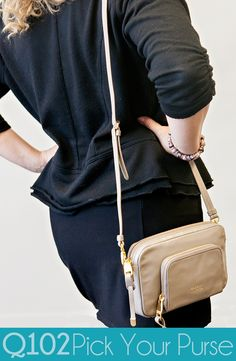 Badgley Mischka - Faye Gray Shoulder Bag. Go to wkrq.com to find out how to play Q102's Pick Your Purse!