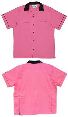 BowlingShirt.com - Kids Pink & Black Classic Bowling Shirt