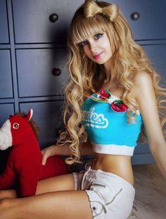 human Angelica kenova barbie doll