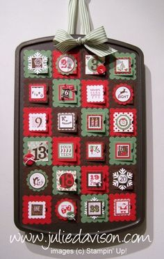 Stampin' Up! Countdown to Christmas Advent Calendar  by Julie Davison