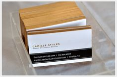 Love these black, white and gold business cards.  I think my next set will have a very similar look...but with a great femme font!