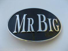 MR BIG BOSS TOP GUN LARGE GIANT COOL METAL BELT BUCKLE