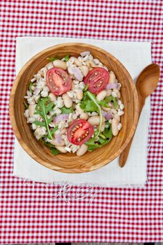 Bean and Barley Arugula Salad vai @Shaina Olmanson   Food for My Family